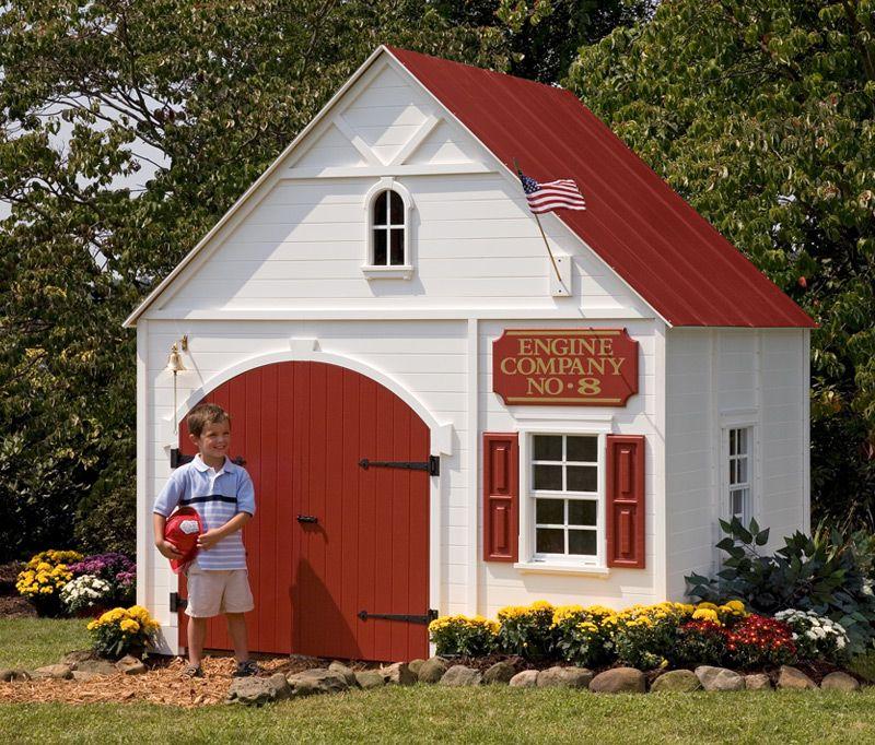 Five Alarm Firehouse Play Houses Little Houses Backyard For Kids
