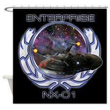 Enterprise NX-01 Shower Curtain for