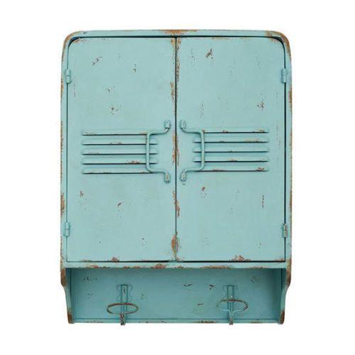 wandschrank metallschrank shabby chic gr n h ngeschrank industriestyle ebay home. Black Bedroom Furniture Sets. Home Design Ideas
