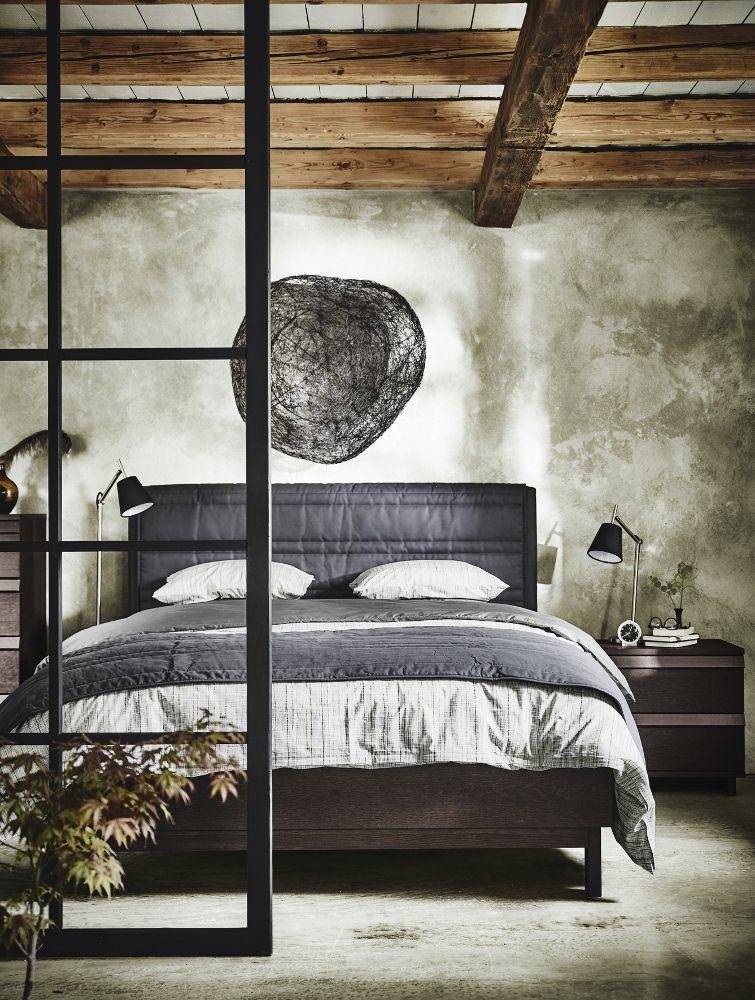 Slaapkamer met Oosterse sfeer - bed IKEA OPPLAND #ikea #bedroom ...