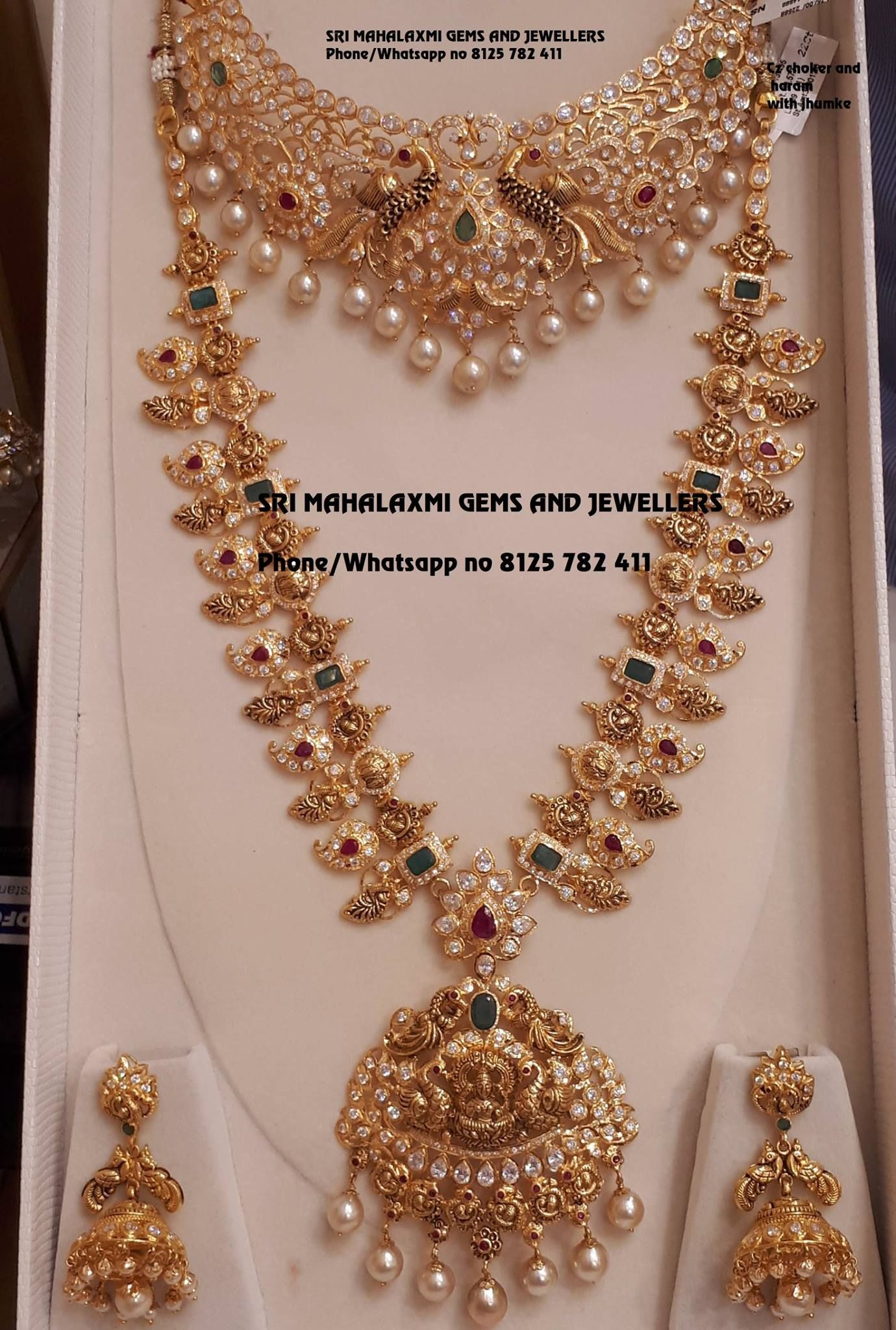 58a96b2b3c331b Bridal jewellery sets get best designs made in perfect finish. Presenting  Mango haram with Czs nakshi choker and Jhumke. Visit for excellent designs  at most ...