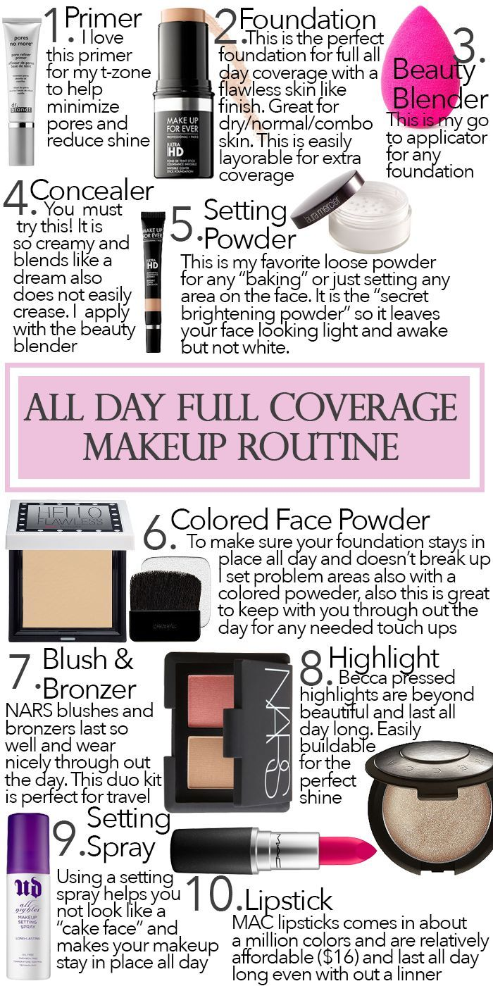 All Day Full Coverage Makeup Routine Full coverage