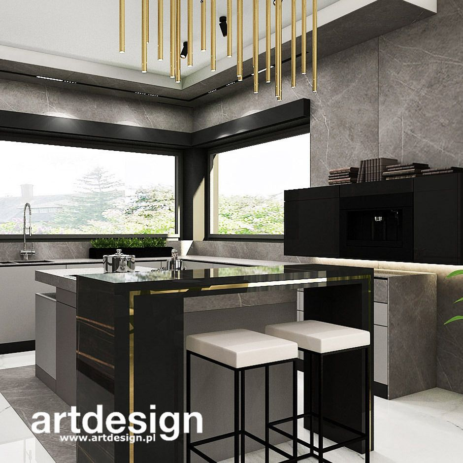 Nowoczesna Kuchnia Z Wyspa Full Steam Ahead Wnetrza Domu Home Home Decor Interior