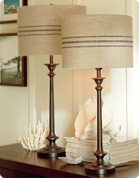 French Stripe Lampshade Knockoffdecor Com Pottery Barn Lamps Home Decor Decor