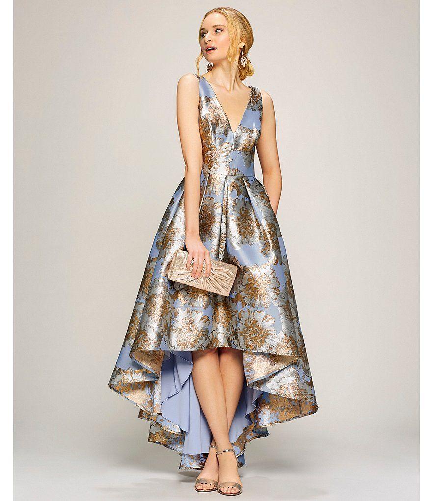 Glamorous Blue Floral Midi Dress Robe de soir/ée Femme