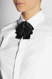 Saint LaurentBow leather collar