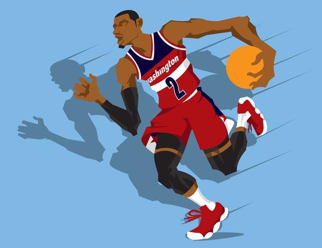 Dope Cartoon Nba Players: Basketball Art, Nba Art, I Love