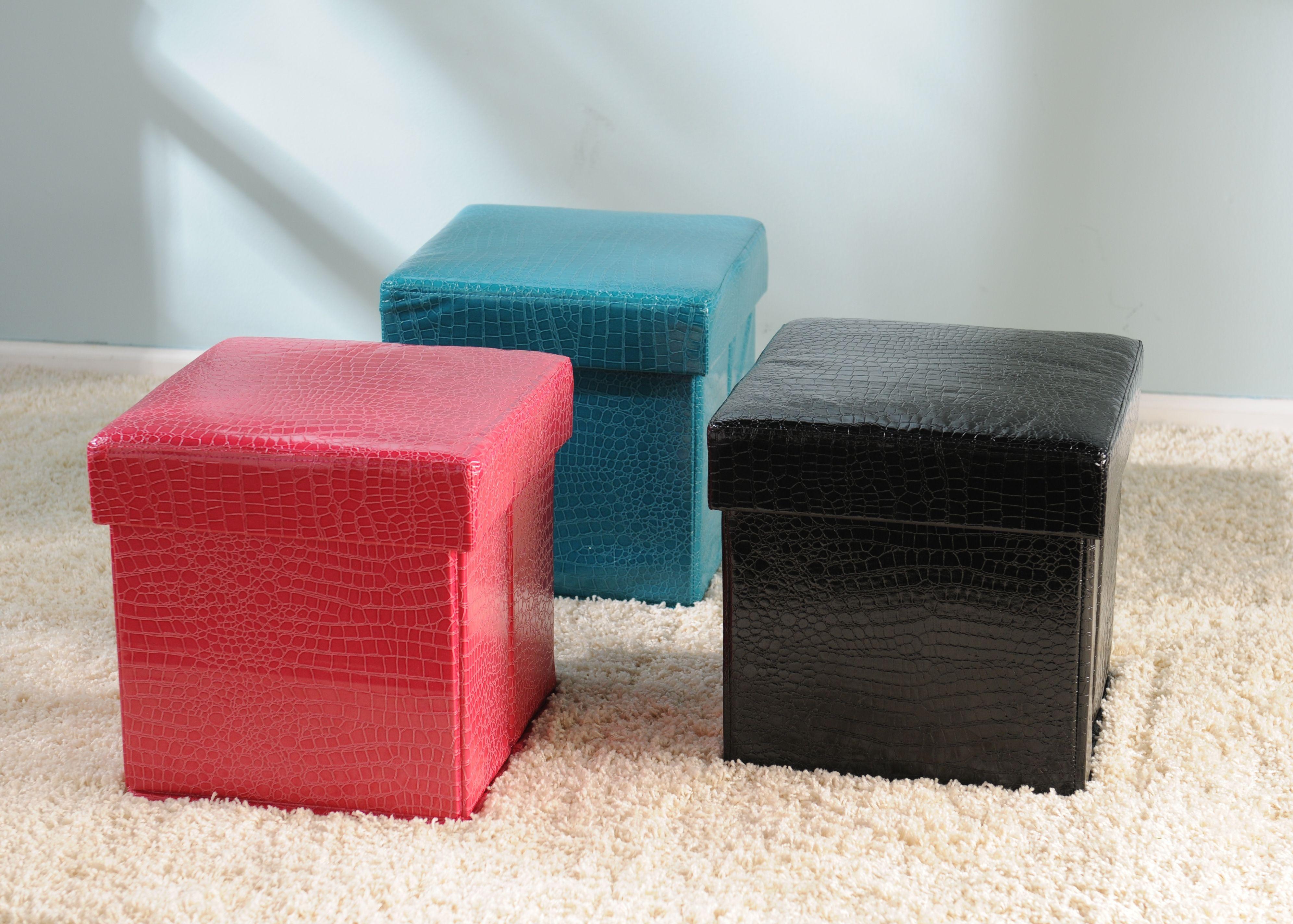 Sensational Product Details Blue Croc Storage Ottoman Home Bedroom Inzonedesignstudio Interior Chair Design Inzonedesignstudiocom