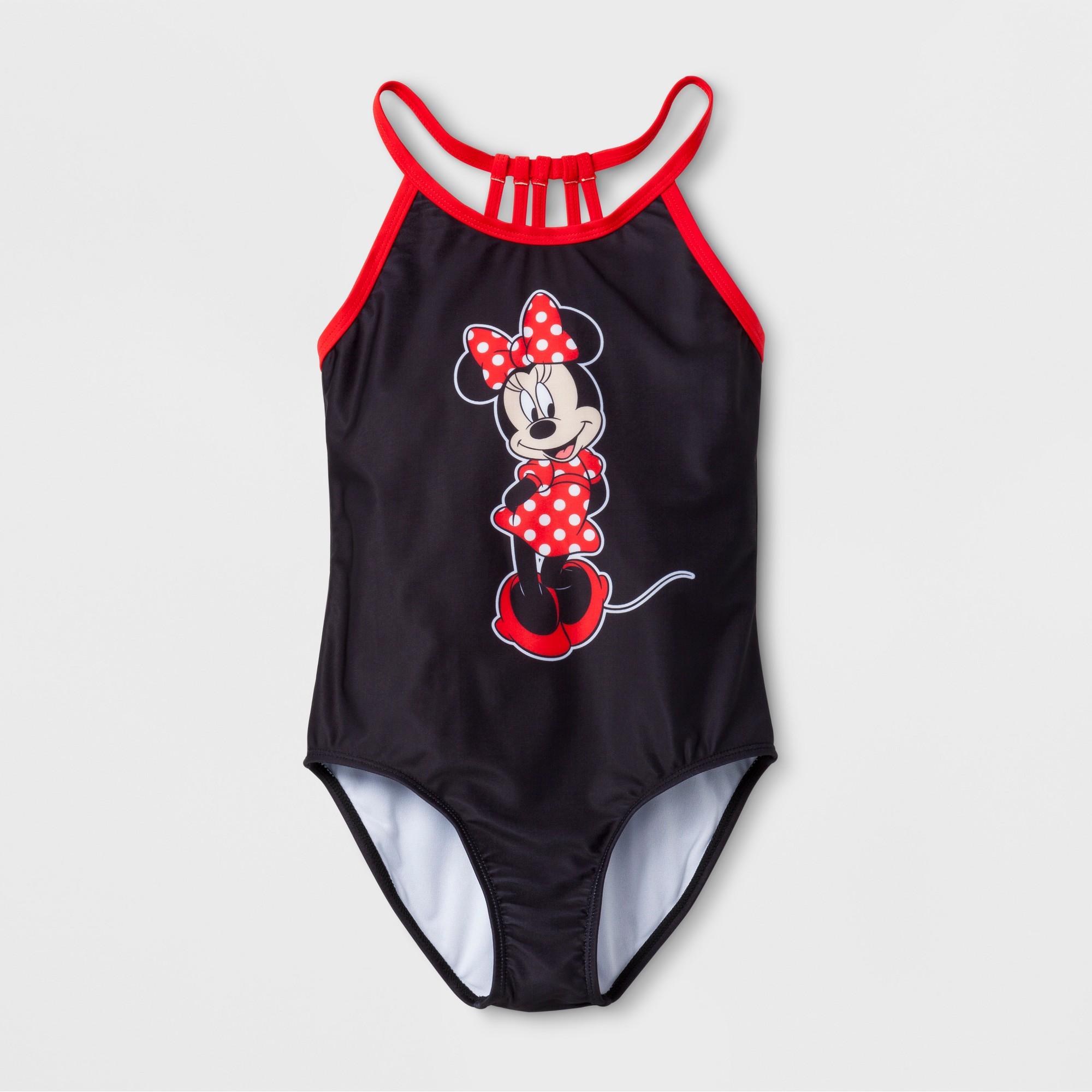 a92fae783fb26 Girls  Minnie Mouse 1pc Swim Suit - Black M