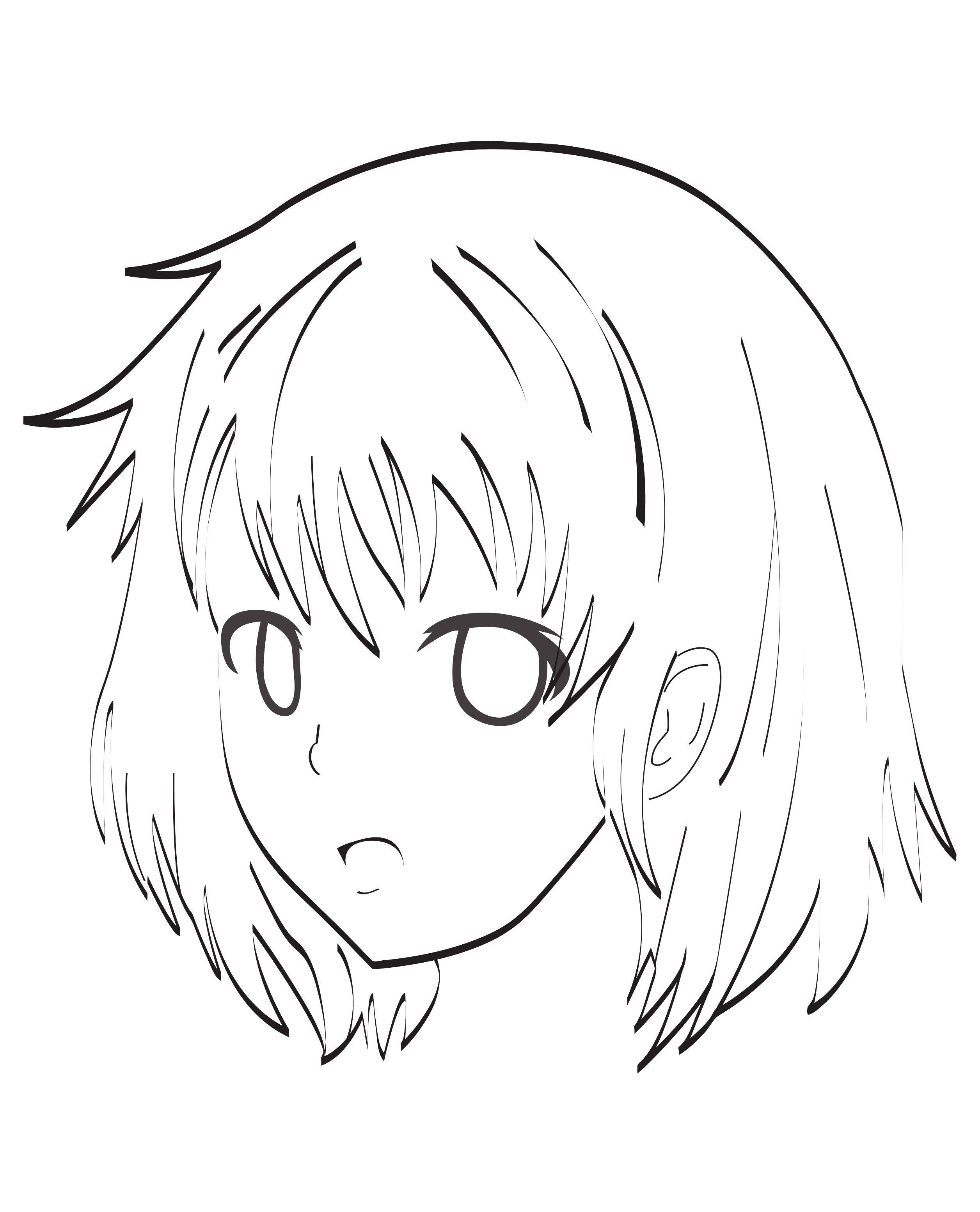 Visage Manga Mangas Animés Coloriages Difficiles Pour