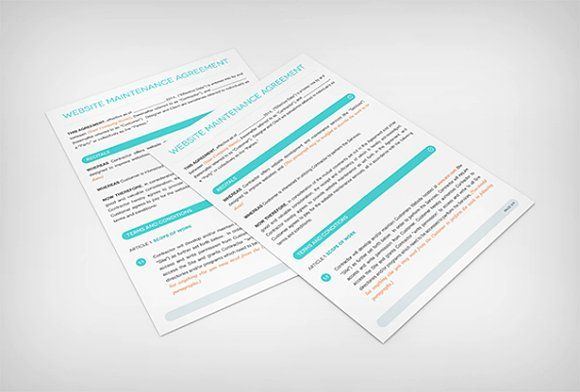 Website Maint Contract Template Template, Brochure template and