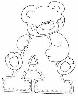 Alfabeto De Ursinhos Riscos Para Pintura Alfabeto Infantil E