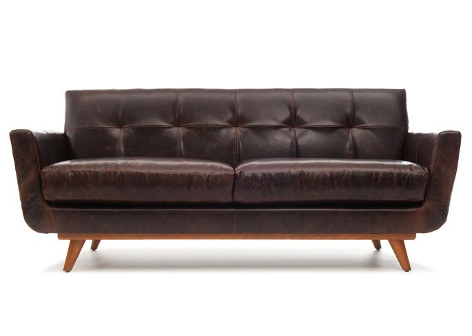 High Quality Brown Leather L Nixon Leather Sofa L Thrive Furniture L Handmade Midcentury  Modern L Made In