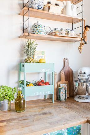 DIY Etagere für Obst und Gemüse als Aufbewahrung für die Küche im - küche selbst gebaut