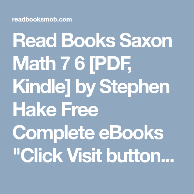 Read books saxon math 7 6 pdf kindle by stephen hake free read books saxon math 7 6 pdf kindle by stephen hake free complete fandeluxe Image collections