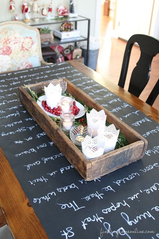 Exceptional Christmas Decorating Ideas: Holiday Housewalk Tour. Chalkboard  TableChalkboard ...
