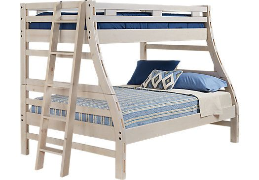 Creekside Stone Wash Twin Full Bunk Bed Loft Beds For Teens Bunk Beds Bedroom Furniture Stores