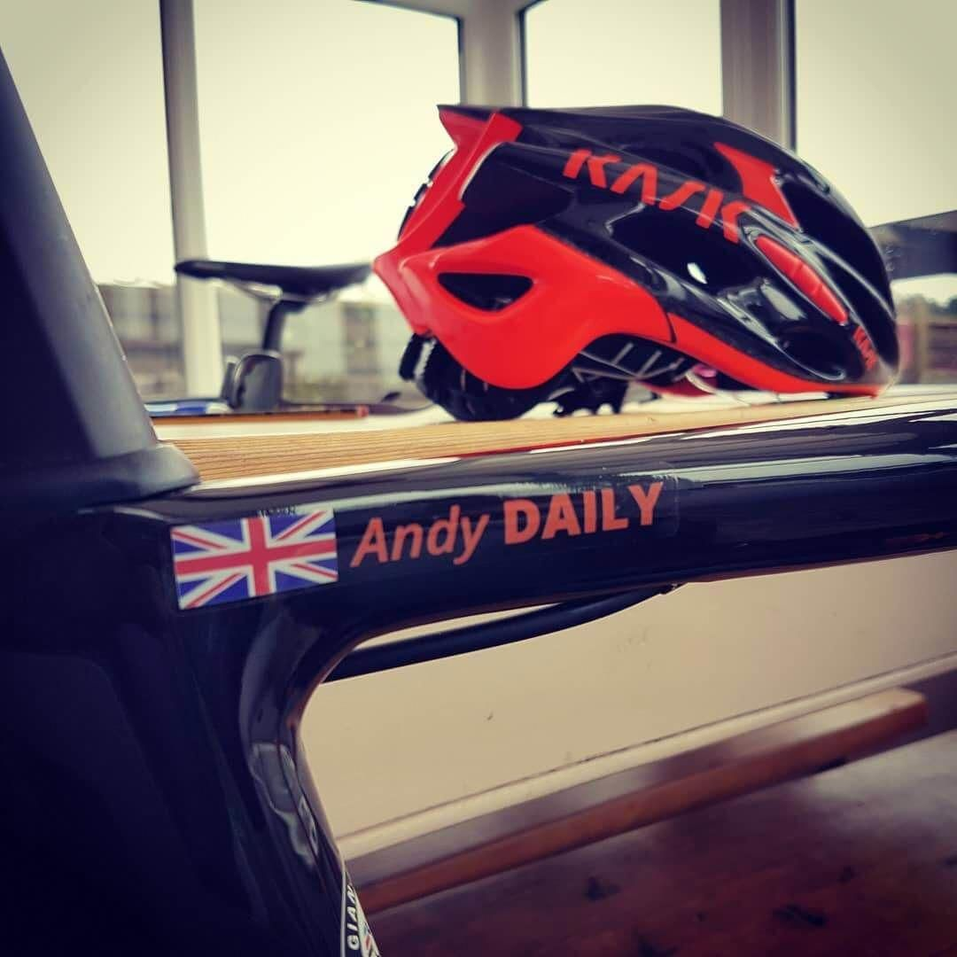 Uk Country Flag And Custom Name Sticker On Road Bicycle