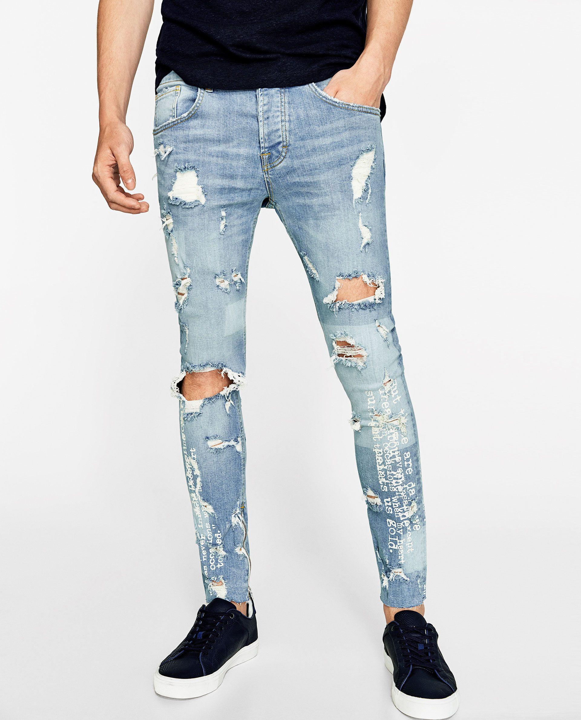 Imagen 2 de DENIM PRINTS de Zara | Pantalones de hombre moda