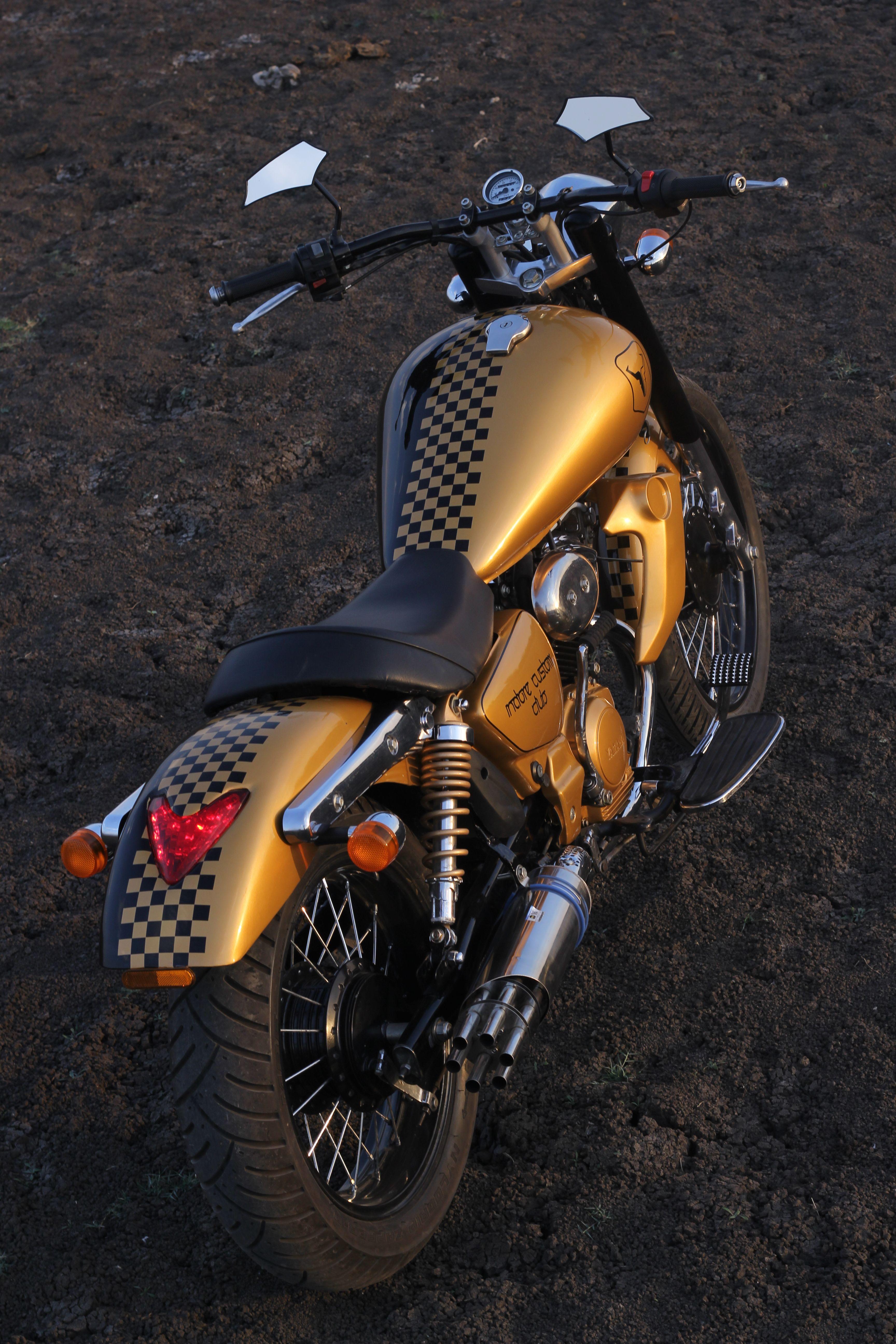 Yamaha Enticer By Indore Custom Club Yamaha Custom Bikes Bike