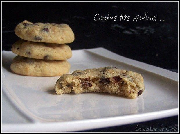 cookies tr s moelleux aux p pites de chocolat et flocons d 39 avoine recettes cuisiner. Black Bedroom Furniture Sets. Home Design Ideas