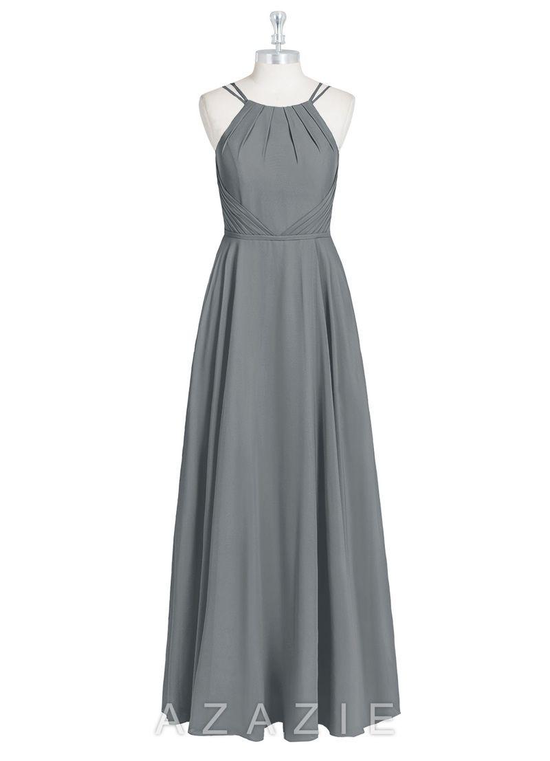47a42482be Azazie Melinda. Azazie Melinda Dusty Blue Bridesmaid Dresses