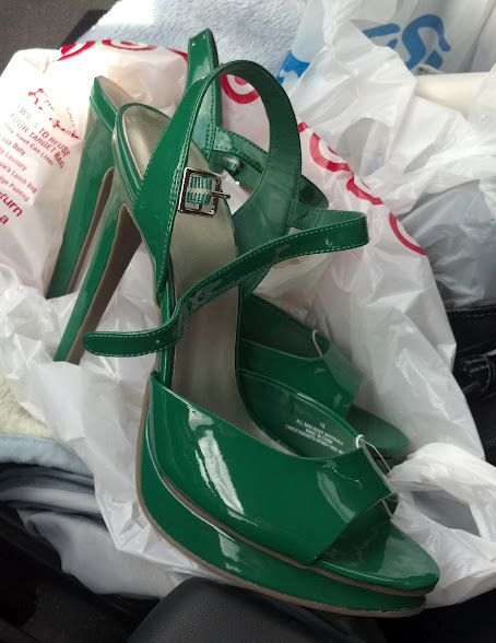 Green Shoes from Target