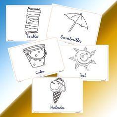La Playa Dibujos Para Colorear Playa Para Colorear Manualidades De Verano Para Ninos Playa Dibujo