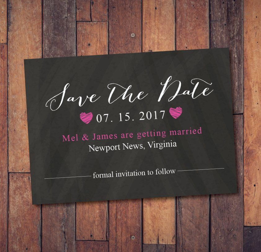 Save the Date Calendar Template/Save the Date Postcard Printable ...
