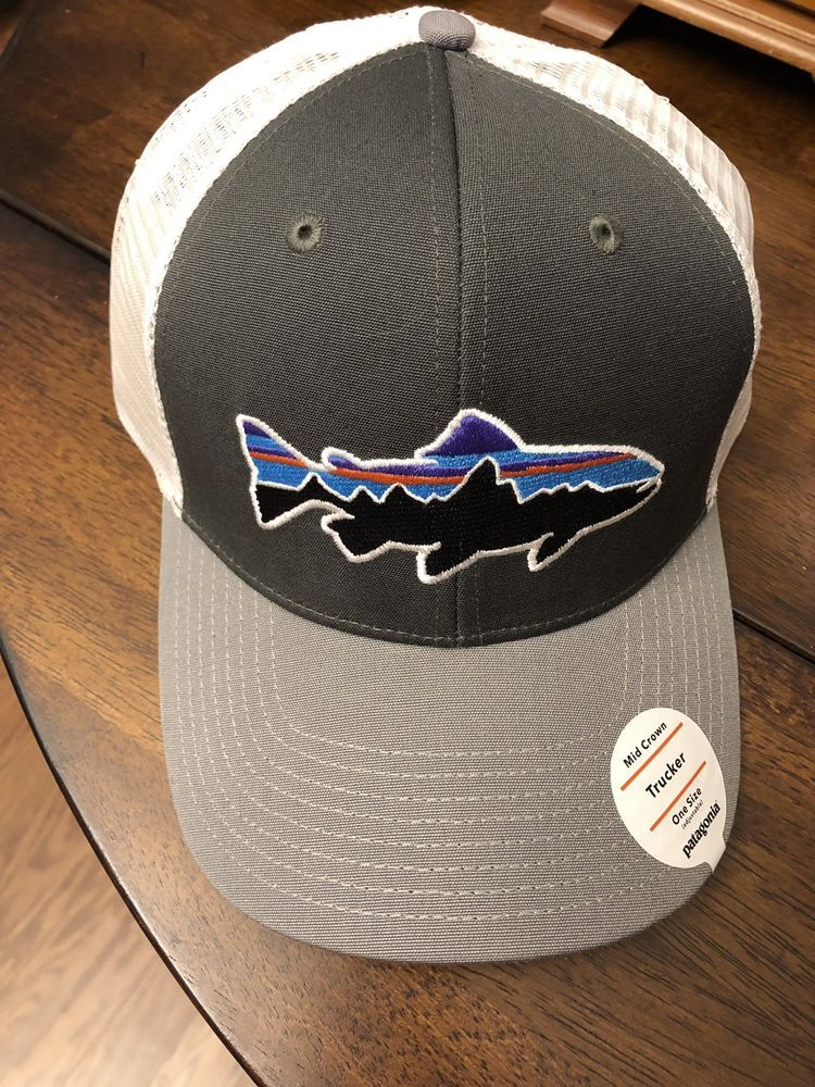 1fdbf4ab Patagonia Men's Trout Fitz Roy Trucker Hat - Gray #fashion #clothing #shoes  #accessories #mensaccessories #hats (ebay link)