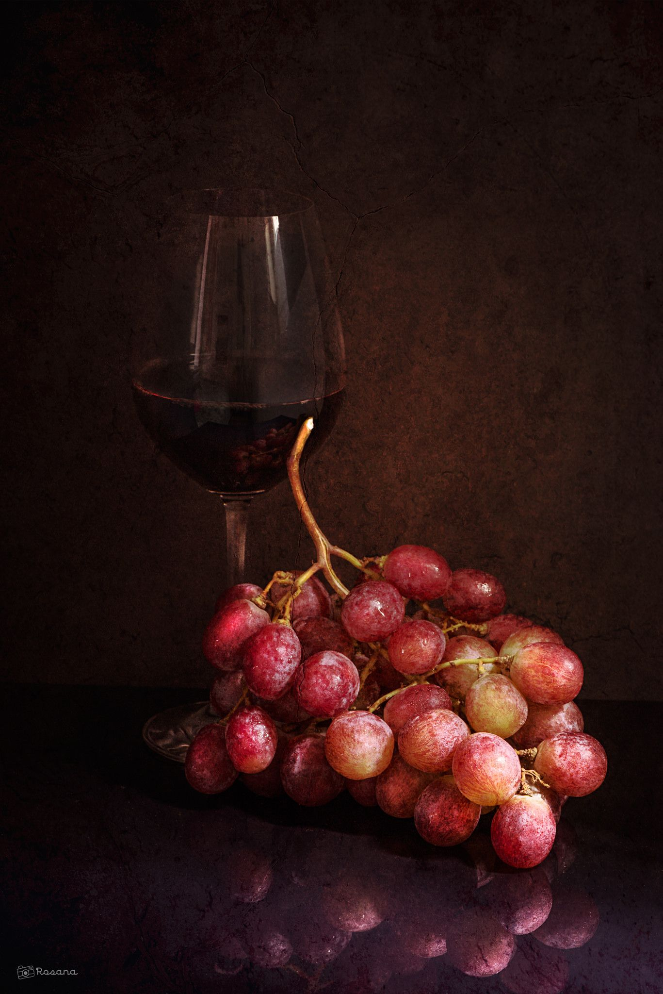 Red Wine And Grapes Grapes Vegetable Drawing Beautiful Food