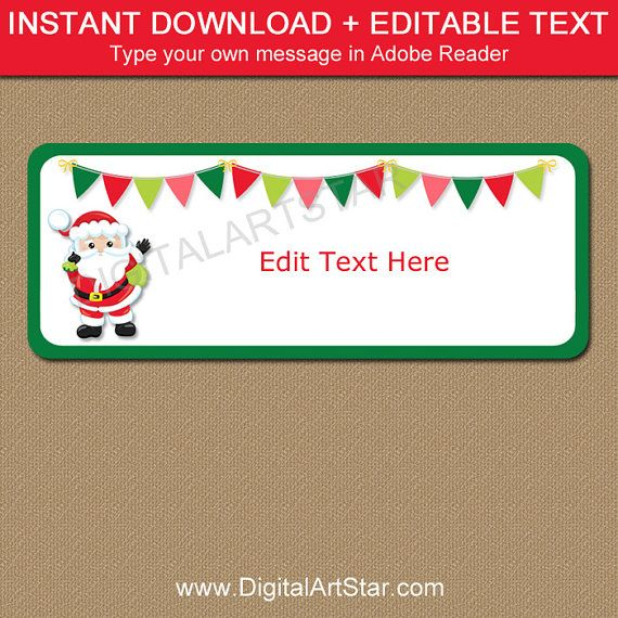 Santa Address Labels Santa Return Address Label Template