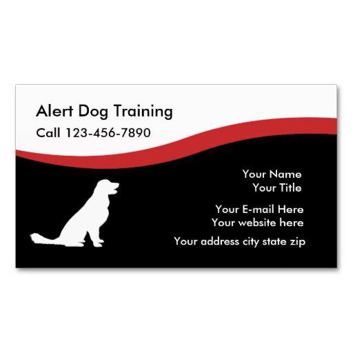 Dog Traning Business Cards Zazzle Com Business Cards Business