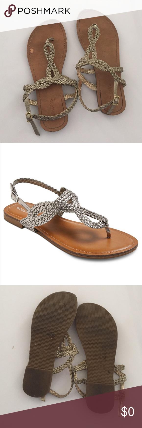 c4e5d9932e39e0 Merona Silver Braided Sandals Merona Sandals (also available in orange) Merona  Shoes Sandals