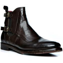 Photo of rosso e nero Chelsea Boots Herren, Glattleder, braun rosso e nero