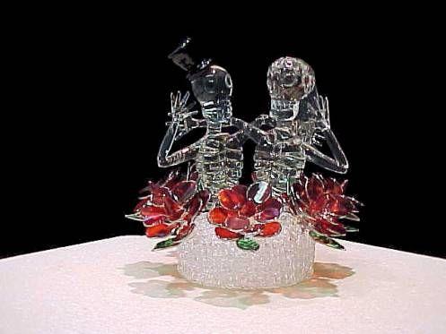 halloween wedding skeletons - caketopper #halloweenwedding ...