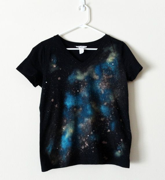 Large Upcycled T-shirt With Galaxy
