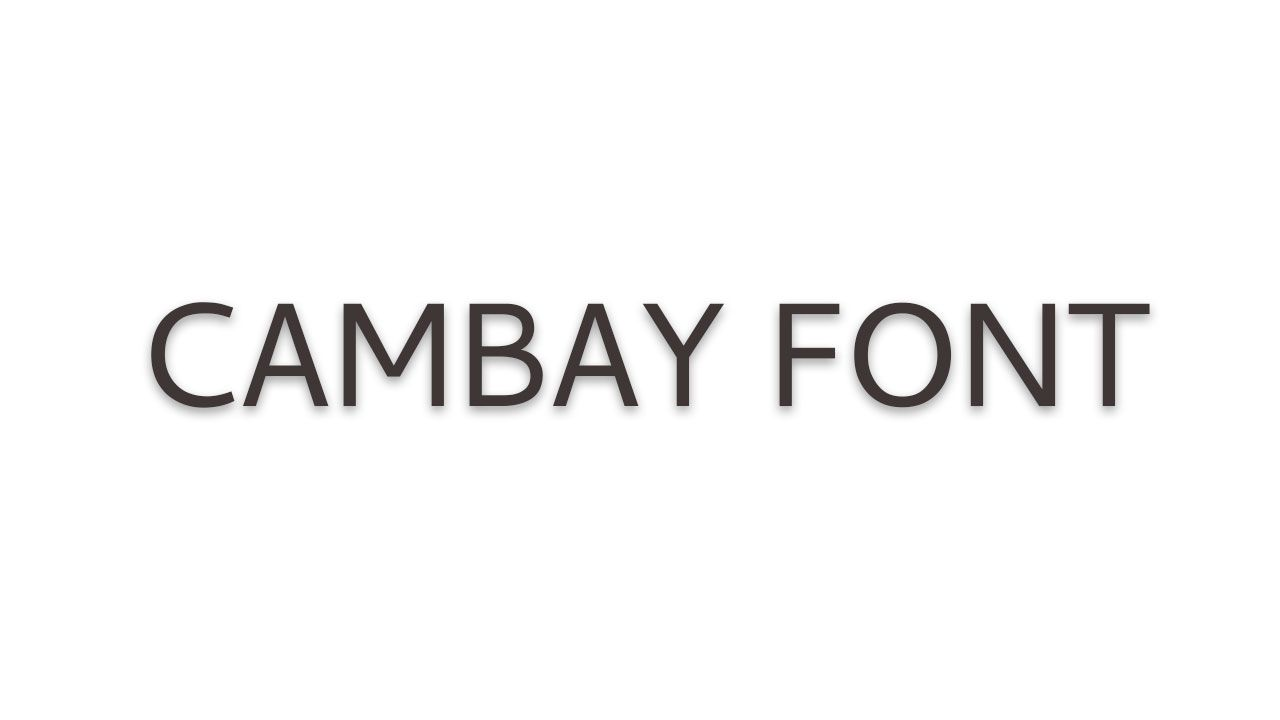 Download Cambay Font Free Download   Cambay Font Family in 2020 ...
