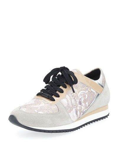 Love this by KENZO Kenzo Tiger-Print Lace-Up Sneaker, Beige - $180