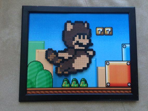 Tanooki Mario Perler Bead Pixel Art Nintendo Nes Mario Super