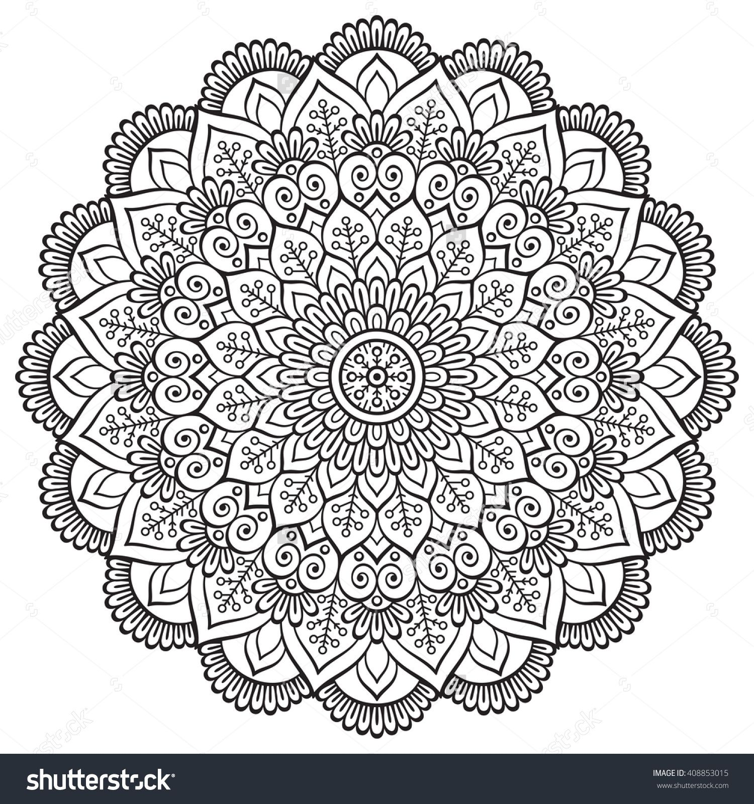 Discover millions of royalty free photos illustrations and vectors in the Shutterstock collection Fleurs VecteurColoriage Mandala