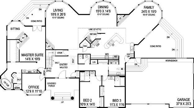 House Plans Home Plans And Floor Plans From Ultimate Plans Floor Plans Craftsman Style House Plans House Plans