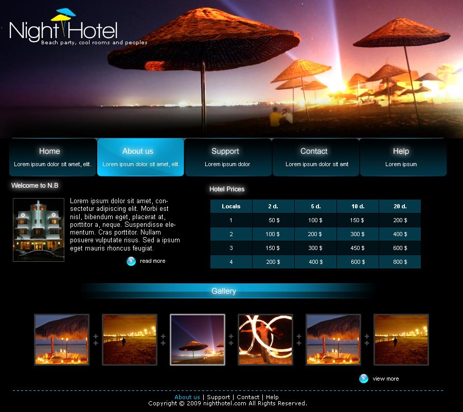 grid based web design- hotel | Grid-based Designs | Pinterest ...