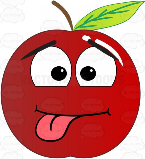 Silly Playful Red Apple With Tongue Sticking Out Emoji Apple Appletree Edible Ediblefruit Food Fruit Glossy Happy Leaf Leaves With Images Red Apple Apple Design