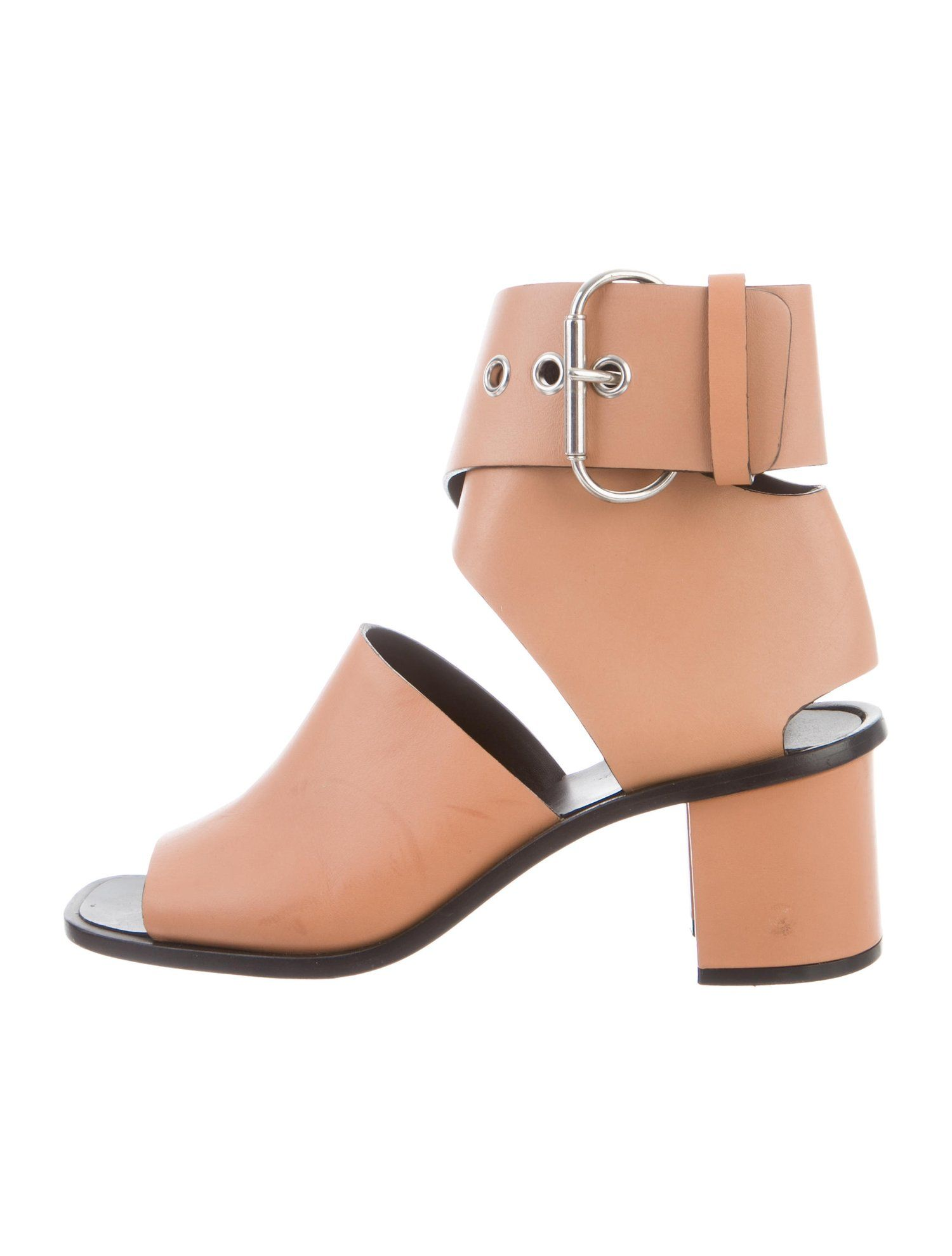 0eae0cee6b1187 C¨¦line Leather Ankle Strap Sandals  Leather  line  Ankle