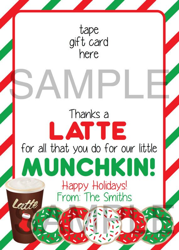 image relating to Thanks a Latte Christmas Printable titled Because of A Latte 5X7 Printable Trainer as a result of DaintyDigitalDesigns