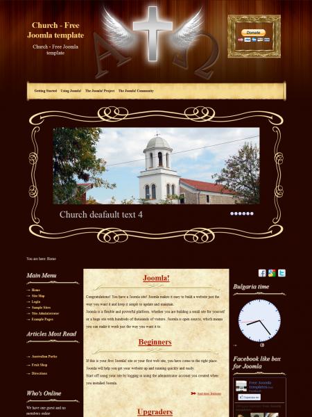 Church Free Joomla 2 5 Template
