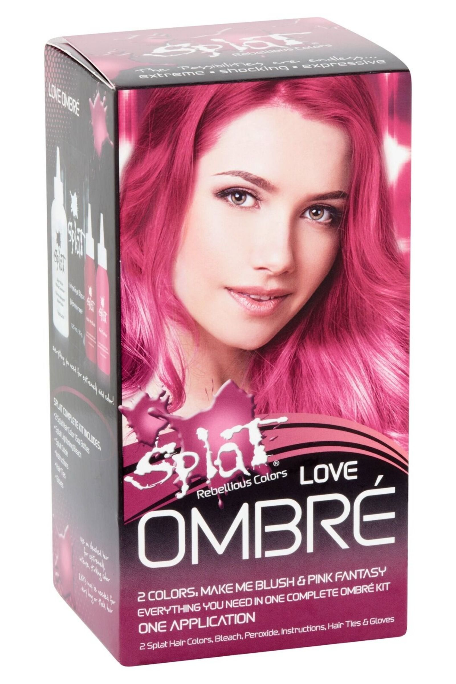 Splat Rebellious Colors Semi Permanent Complete Kit Ombre Hair Dye Ebay In 2020 Splat Hair Dye Semi Permanent Hair Dye Splat Hair Color