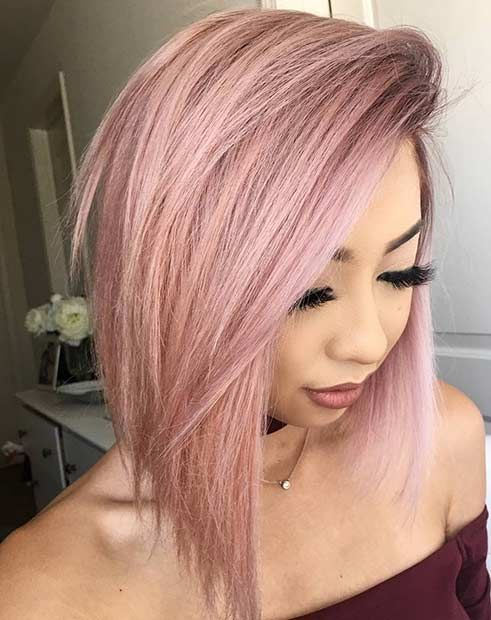 23 Trendy Rose Gold Hair Color Ideas | Bob hairstyle, Bobs and Rose