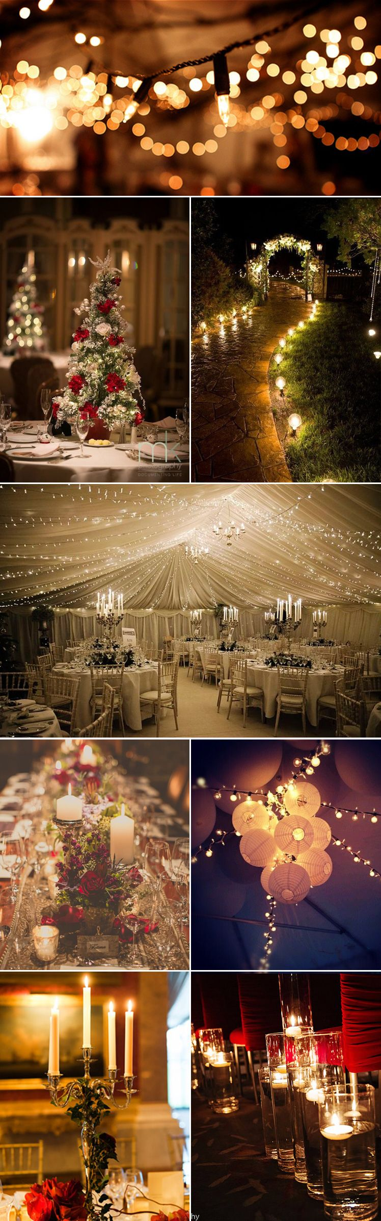 Viking wedding decorations  Festive Lighting Ideas for A Christmas Wedding  Lights Weddings
